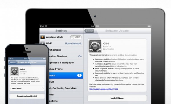 iOS 6.0.1: Apple gibt neue Version zum Download frei