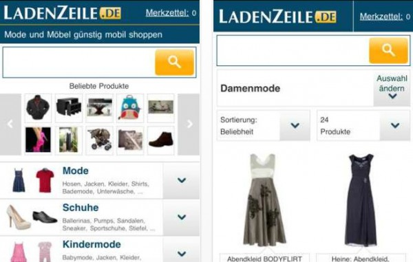 LadenZeile: Topaktuelle Schnppchen auf dem iPhone