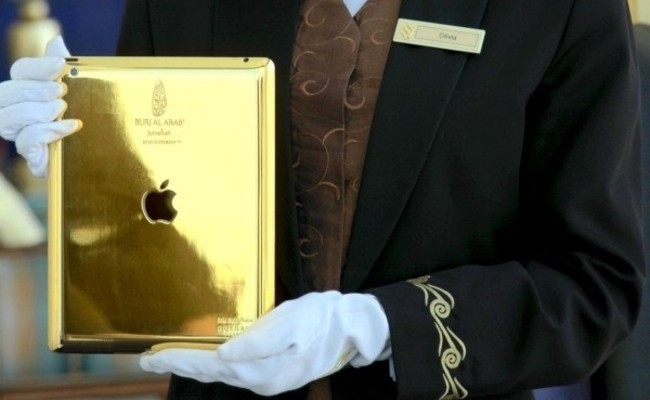 Burj Al Arab Hotel in Dubai: Goldenes iPad als Hotel-Guide