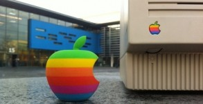 apple drucker altes logo