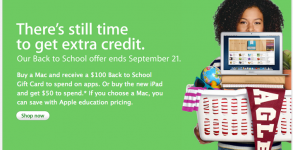 Apple Back to school Aktion